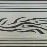 H&H Design Lézervágott kerítés láng minta